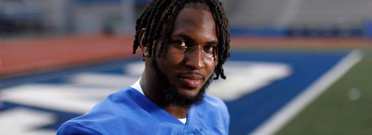 University at Buffalo wide receiver Anthony Johnson on Aug. 16. (Derek Gee/News file photo)