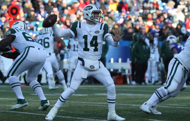 Jets quarterback Sam Darnold. (James P. McCoy/Buffalo News)