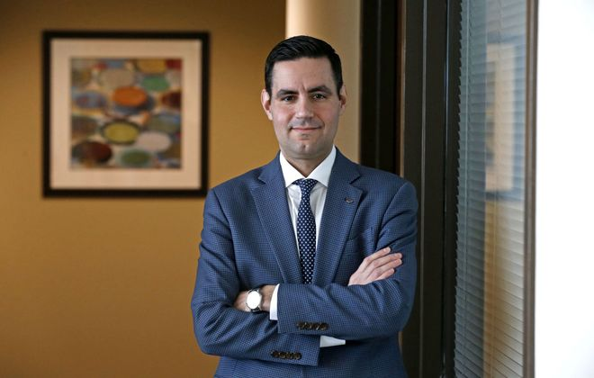 Adam Desmond, regional market executive for Tompkins Bank of Castile, has led the bank's expansion efforts here. (News file photo)