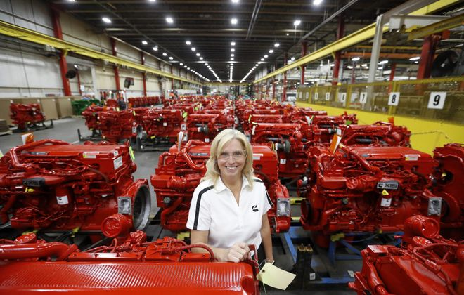 Anna Dibble was named the Cummins Inc. plant manager last year. (Mark Mulville/News file photo)