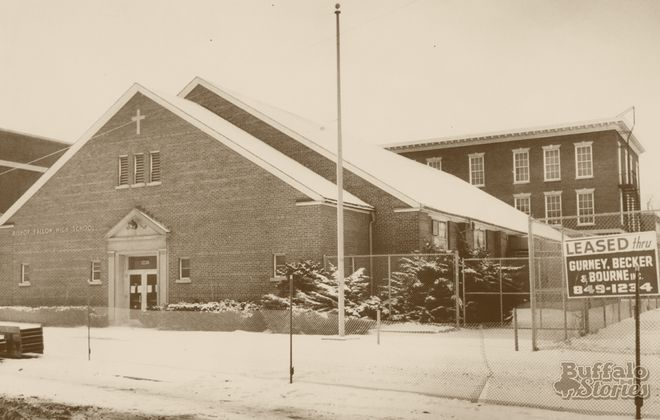The former Bishop Fallon High School was sold in 1980.