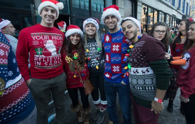 Santa hats, Christmas sweaters and more will be welcomed at the Niagara Falls SantaCon on Saturday. (Chuck Alaimo/Special to The News)