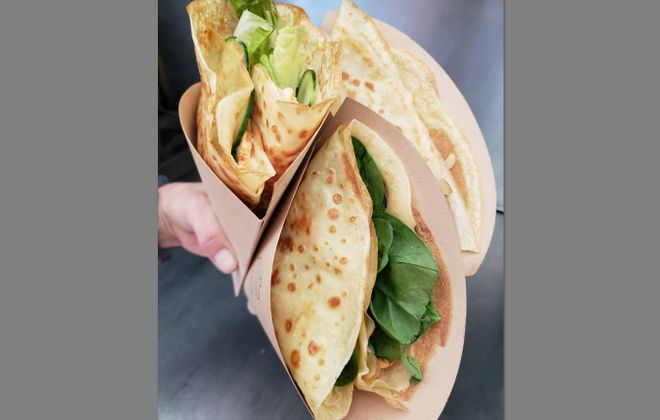 Totally Edible crepe truck has changed to a brick-and-mortar location in the Holley Farms on Allen Street. (Totally Edible)