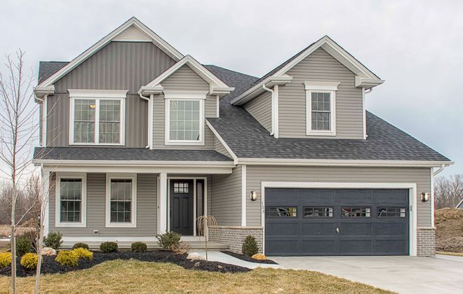 The new model at 108 Waterway Lane by Marrano is in Evergreen Landing, located in Amherst.