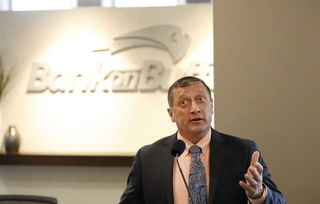 Joseph B. Bower Jr., president and CEO of CNB Financial Corp., had a 24 percent raise in total compensation in 2018. (Derek Gee/Buffalo News)