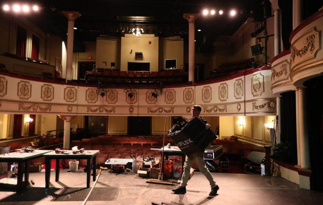 The Kavinoky Theatre does shows in a Baroque-style, 259-seat theater on the campus of D'Youville College. (Sharon Cantillon/News file photo)