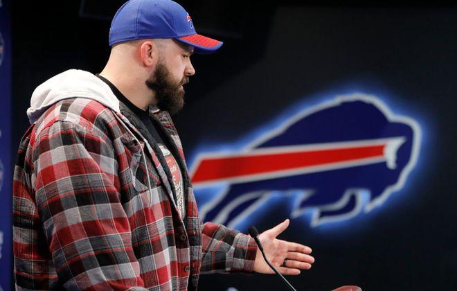 Bills center Mitch Morse signed a $44.5 million deal. (Derek Gee/Buffalo News)