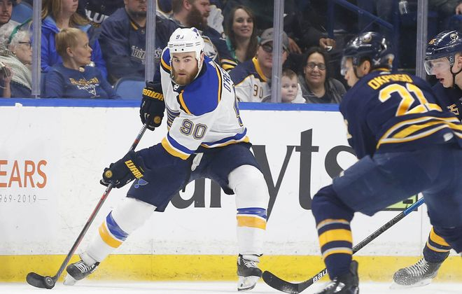 Former Sabres center Ryan O'Reilly has 27 points in 31 games this season for the St. Louis Blues. (Mark Mulville/Buffalo News)