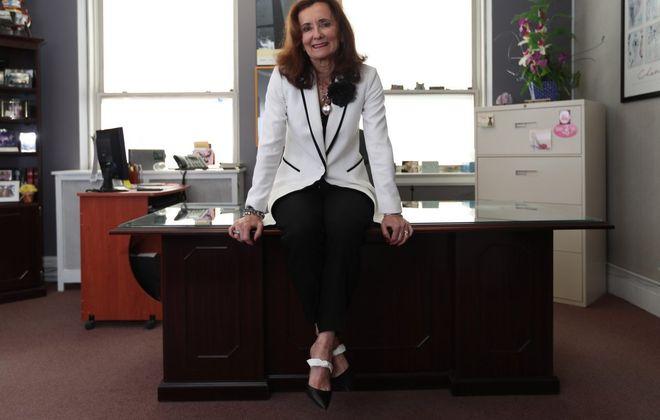 Debra Horn Stachura is co-owner of Buffalo Advertising Management on Delaware Avenue. (Sharon Cantillon/Buffalo News)