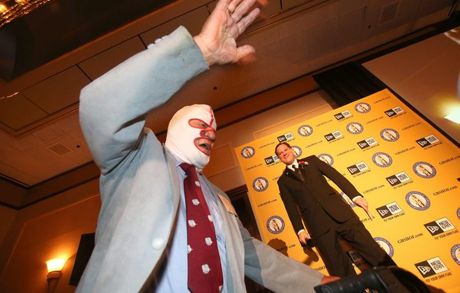 """World Wrestling Association legend Dick """"The Destroyer"""" Beyer was inducted into the Greater Buffalo Sports Hall of Fame in 2003. (Robert Kirkham/News file photo)"""
