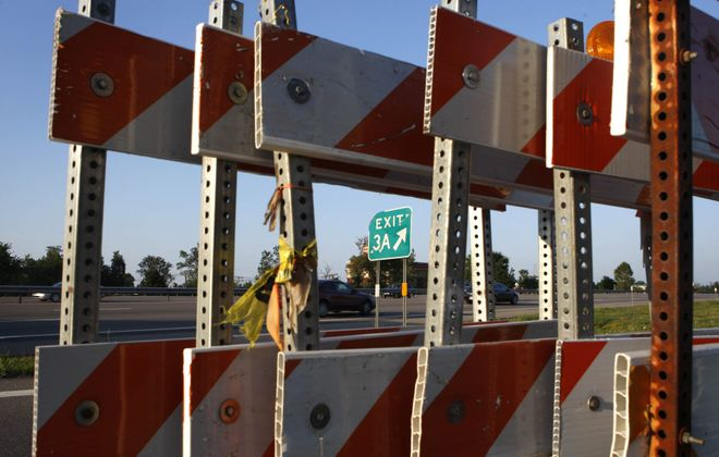 The latest phase of construction on the I-290 begins next week; this photo is from 2010 work being done on the Niagara Falls. Boulevard exit. (Buffalo News file photo)