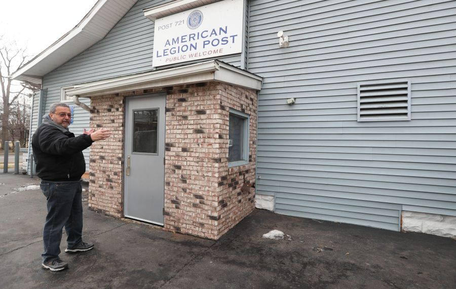 American Legion Post 721, where an 87-year-veteran suffered a fatal fall last year, is one of 14 veterans posts in need of safety improvements. (Sharon Cantillon/Buffalo News)