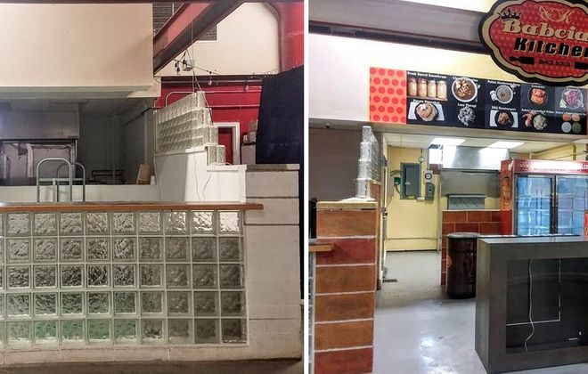 The before and after of Babcia's Kitchen in the Broadway Market. You can find it two spaces from the butter lamb booth. (via Babcia's Pierogi)