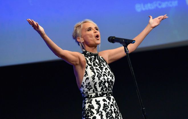 Kristin Chenoweth performed Saturday night in Kleinhans Music Hall as part of the Buffalo Philharmonic Orchestra's Pops program.  (Getty Images)