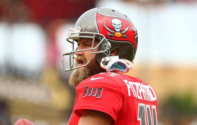 Ryan Fitzpatrick, who spent the last two seasons with the Tampa Bay Buccaneers, has reportedly signed with the Miami Dolphins. (Will Vragovic/Getty Images)