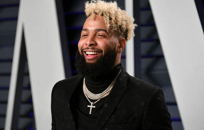 Odell Beckham Jr. attends the Vanity Fair Oscar Party (Dia Dipasupil/Getty Images)