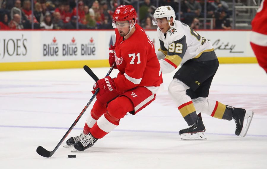 Dylan Larkin has 28 goals and 36 assists this season for the Detroit Red Wings. (Getty Images)