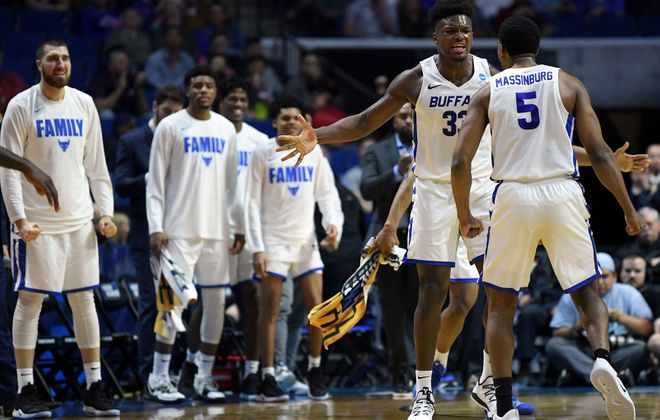 UB men's basketball beat Arizona State in the first round of the 2019 NCAA Tournament. (Getty Images)