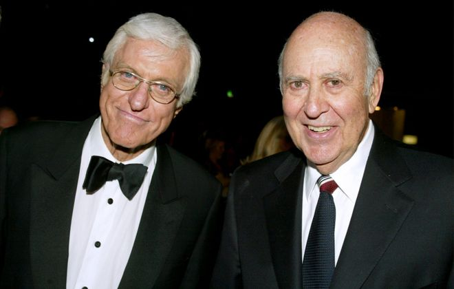"The National Comedy Center in Jamestown will preserve Carl Reiner's archives from ""The Dick Van Dyke Show."" Van Dyke, left, and Reiner are pictured in this file photo. (Getty Images)"