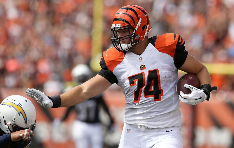 Jake Fisher is hoping to reinvent himself as a tight end. (Getty Images)