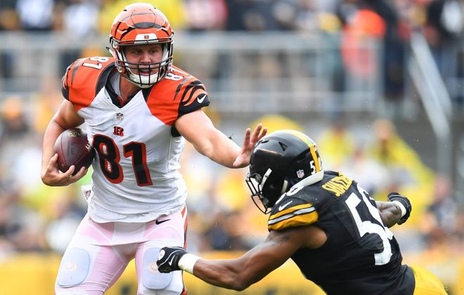 Former Bengals tight end Tyler Kroft joined the Bills. (Getty Images)
