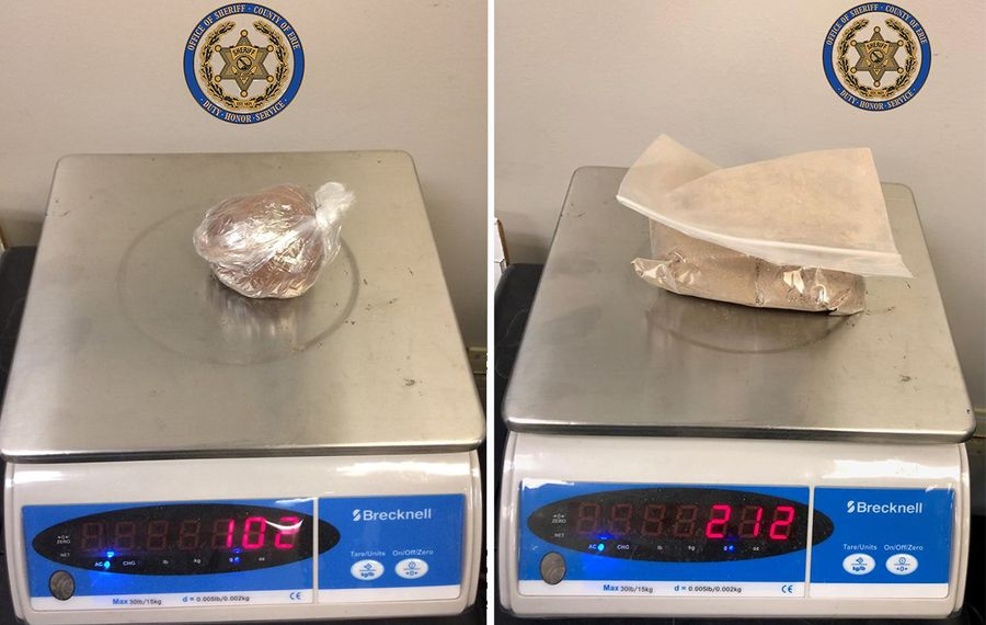 Law enforcement authorities Thursday seized over 300 grams of fentanyl. Photo courtesy of Erie County Sheriff's Office.
