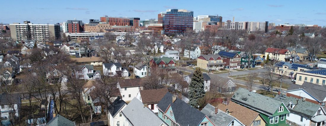 Buffalo's Fruit Belt neighborhood is situated just east of the growing Buffalo Niagara Medical Campus. (Derek Gee/Buffalo News)