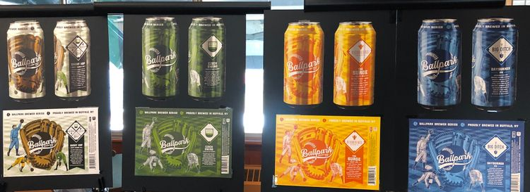 The lineup of Ballpark Brewers Series beers includes work from Big Ditch Brewing, Community Beer Works and Resurgence Brewing Co. (Ben Tsujimoto/Buffalo News)