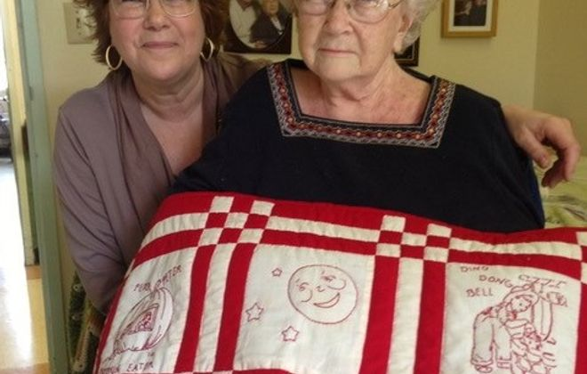 Kathleen Cattrall and her mother, Janis, at Niagara Rehabilitation and Nursing Center in Niagara Falls. Kathleen Cattrall tried unsuccessfully to find a five-star nursing home willing to accept her mother, who was poor and relying on Medicaid to pay her nursing home bills. Janis Cattrall died in the one-star nursing home in 2015. (Photo courtesy of Kathleen Cattrall)