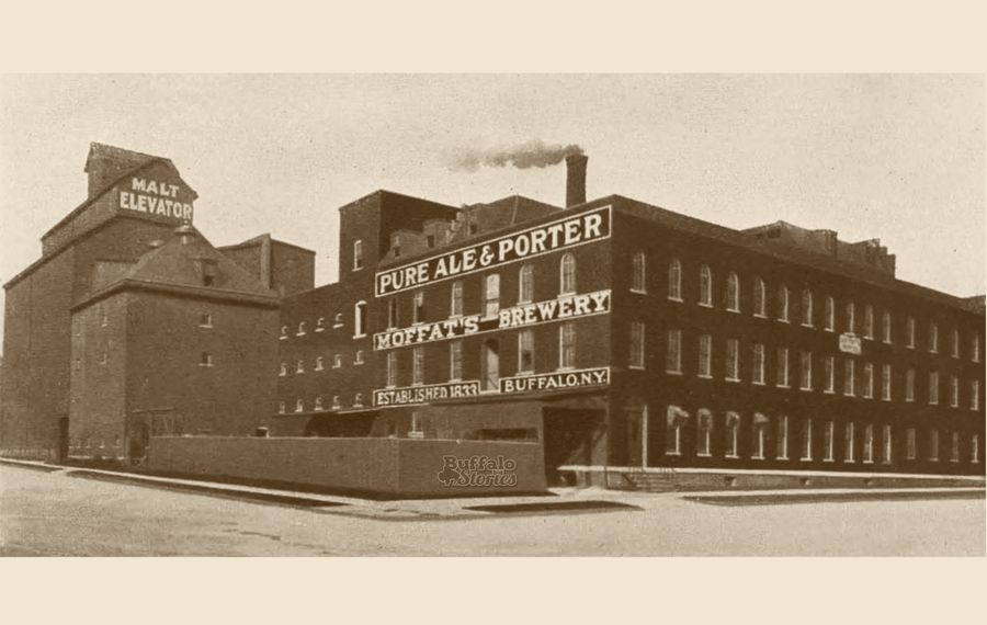 Moffat's Brewery, located at Mohawk Street and Morgan Street, which is now South Elmwood Avenue.