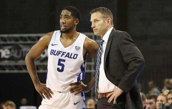 Buffalo Bulls head coach Nate Oats and Bulls guard CJ Massinburg earned top honors. (James P. McCoy/Buffalo News)