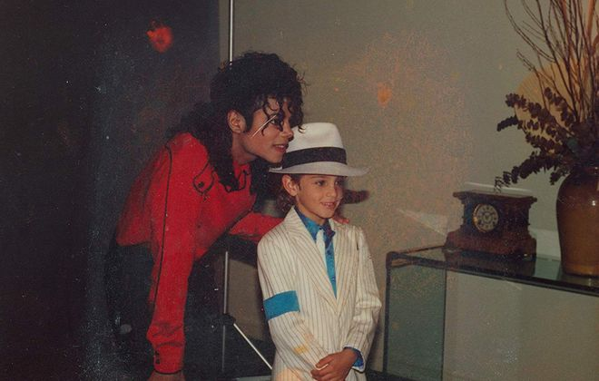 "Michael Jackson and Wade Robson in ""Leaving Neverland."" (Amos Pictures/IMDb/TNS)"