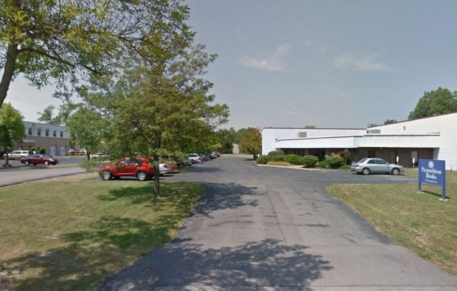 This building in an Amherst office park has  housed Prometheus Books since the 1990s. (Google Images)