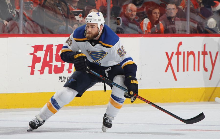 Ryan O'Reilly leads the Blues in scoring with a career-high 67 points. (Getty Images)