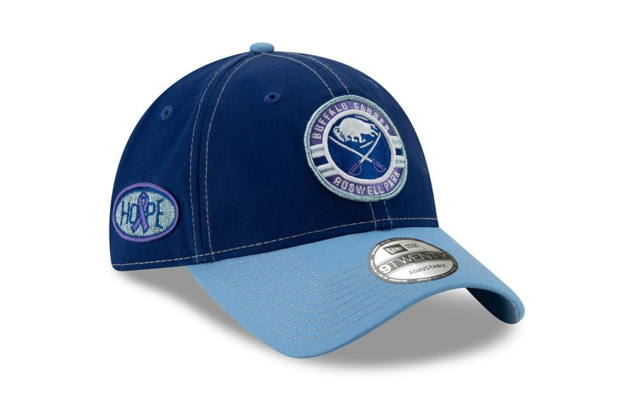 The latest special-edition Sabres ball cap benefits Roswell Park Comprehensive Cancer Center. (Photo courtesy of (Roswell Park)