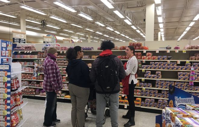 Jenna Fadale, right, with the Niagara County Cornell Cooperatiive Extension office, came up with the idea for Tops healthy grocery store tours. (Cornell Cooperative Extension/Special to the News)
