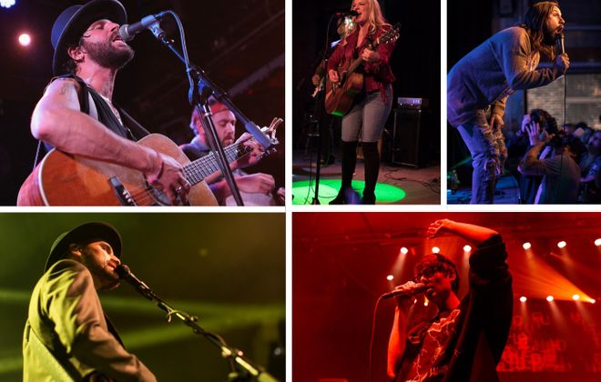 From upper left, clockwise: Langhorne Slim (Getty Images), Jillian Eliza of Buffalo Women of Country, Keith Buckley of Soul Patch, Joywave from Rochester and Aqueous from Buffalo. (Aside from Langhorne, all other photos are Buffalo News file photos)