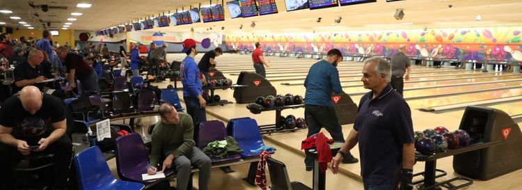 """Jeff Miers writes, of places like Tonawanda Bowling Center, """"Around here, people still love to bowl, even if the blue-collar jobs they packed the alleys to forget about for a while are, largely, long gone."""" (Sharon Cantillon/Buffalo News)"""