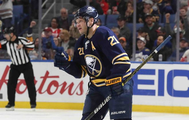 Kyle Okposo returned from an 11-game absence and scored his second goal of the season (James P. McCoy/News file photo).