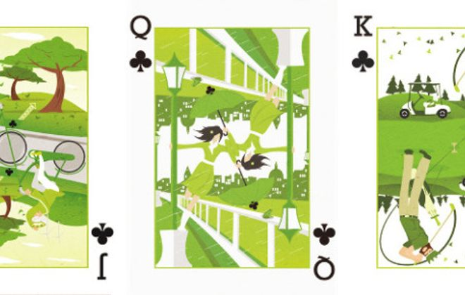Royal Seasons playing cards by Ricky Linn