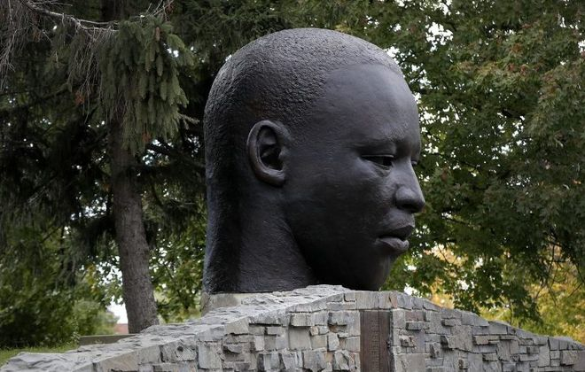 Visit Martin Luther King Jr. Park to walk among the gardens or enjoy public art, such as John Wilson's sculpture. (Mark Mulville/News file photo)