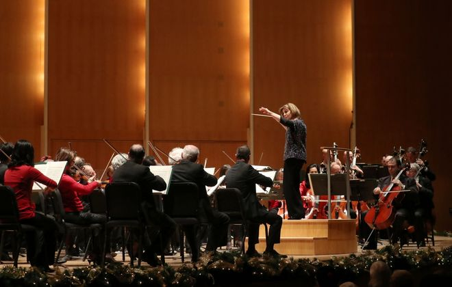 Archived concerts by JoAnn Falletta and the Buffalo Philharmonic Orchestra will be broadcast on WNED 94.5 FM. (Sharon Cantillon/News file photo)