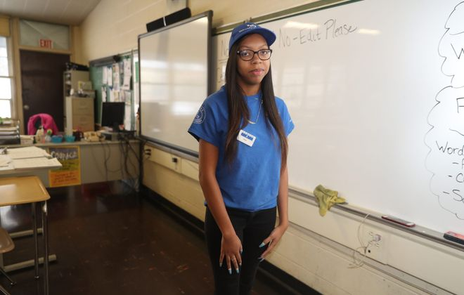 Shani Page went from having a second-grade reading level to getting her high school equivalency at the Career Collegiate Institute. (John Hickey/Buffalo News)