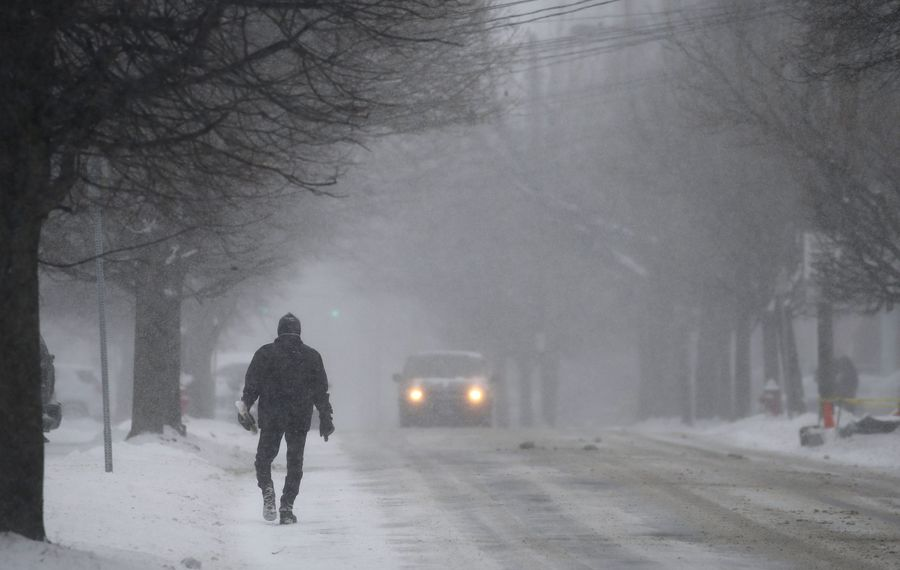 Blustery and cold conditions could be headed our way in the next few days. (Mark Mulville/Buffalo News)