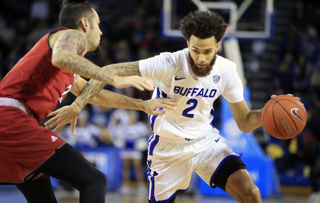 UB's Jeremy Harris scored 22 points in an 88-79 win Tuesday at Western Michigan. (Harry Scull Jr./ Buffalo News)