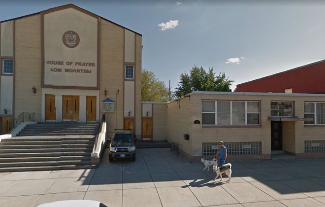 This North Buffalo church, formerly the Ahavas Achim Lubavitz synagogue, may soon house foreign medical students from Italy. (Google)