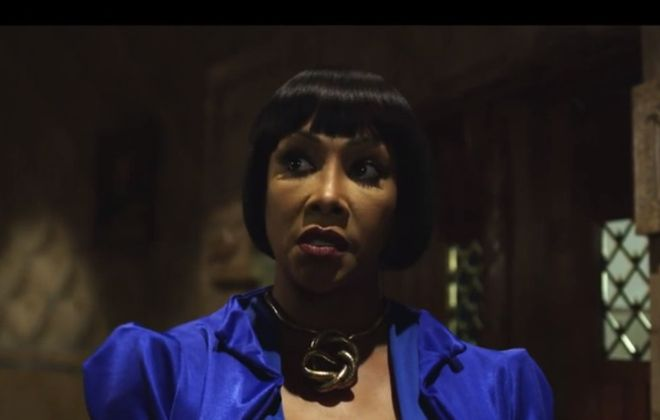"""This screenshot from the new """"Crossbreed"""" trailer shows Vivica A. Fox in a scene shot in Buffalo City Hall."""