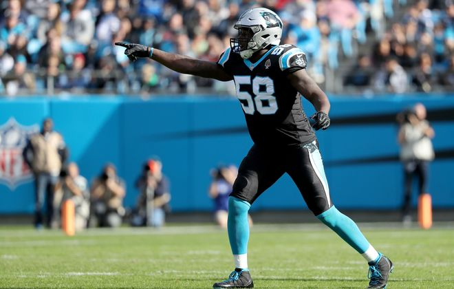 Former Panthers linebacker Thomas Davis has a long history with Bills coach Sean McDermott. (Getty Images)