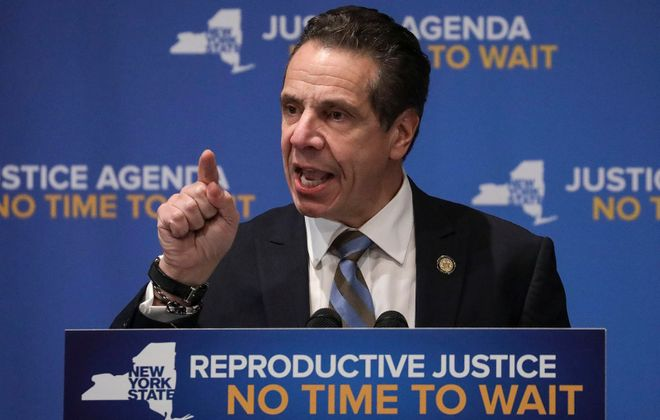 New York Gov. Andrew Cuomo speaks about reproductive rights at Barnard College, January 7, 2019, in New York City. (Getty Images)