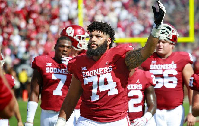 Oklahoma offensive lineman Cody Ford would provide protection for Bills quarterback Josh Allen. (Getty Images)